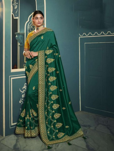 Green color Silk saree