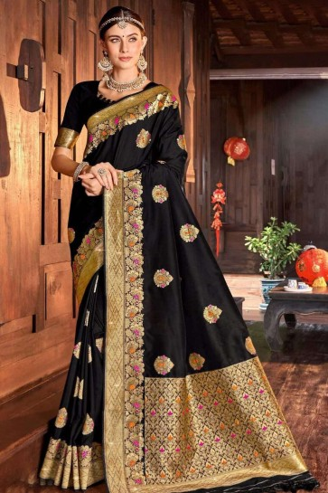 Black Silk saree