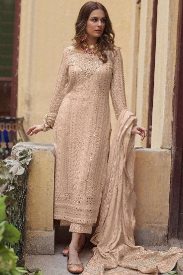 Beige Cotton and silk Palazzo Suit