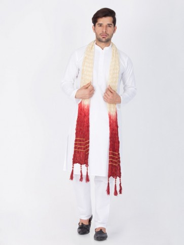White Cotton Ethnic Wear Kurta Readymade Kurta Payjama