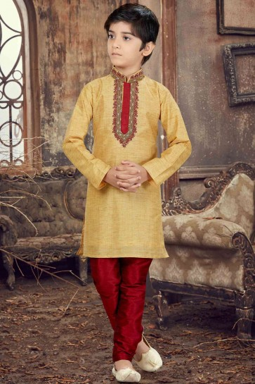 Golden Banglori silk Boys Kurta