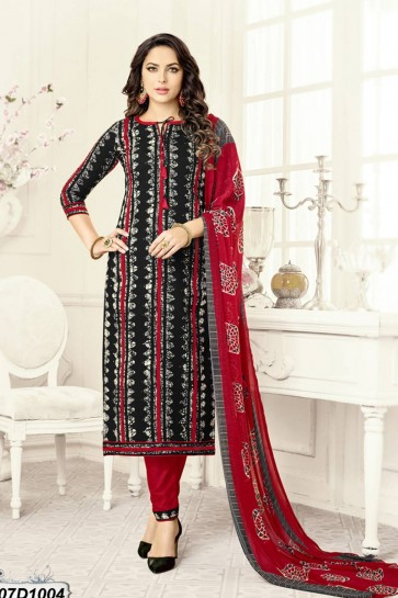 Black, Red, Grey color Rayon Salwar Kameez