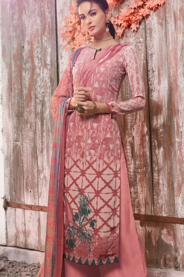 Old rose Crepe Palazzo Suits