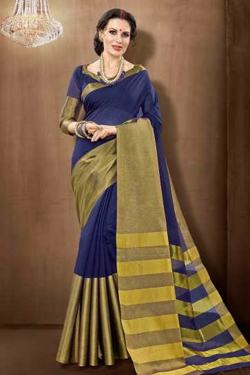 Violet Cotton Silk saree
