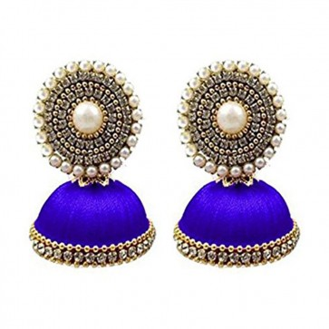 Royal Blue Beads Earrings