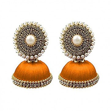 Saffron Beads Earrings