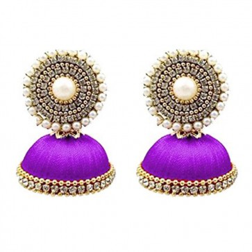 Purple Beads Earrings