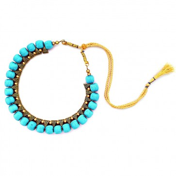 Sky Blue Beads Necklace