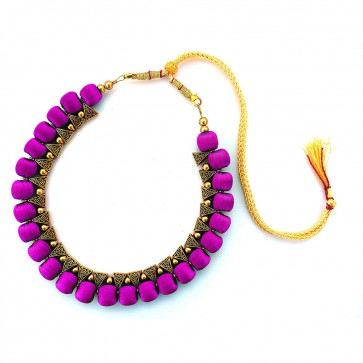 Purple Beads Necklace