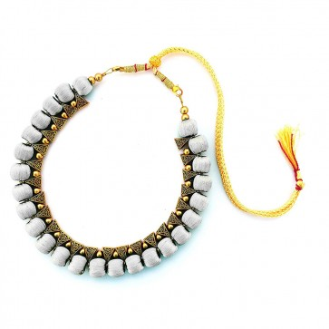Light Grey Beads Necklace