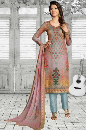 Multi Soft Cotton Churidar Suit