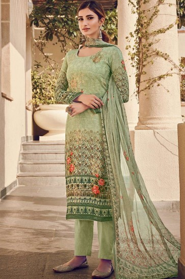 Green Silk and viscose Palazzo Suit