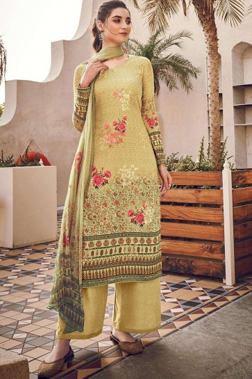 Light olive Silk and viscose Palazzo Suit