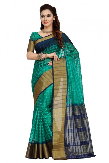 Rama Green Silk Saree