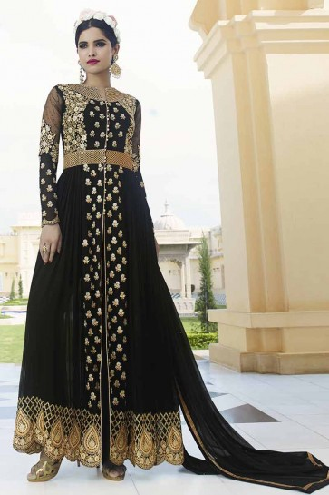 Black Georgette Anarkali Suit
