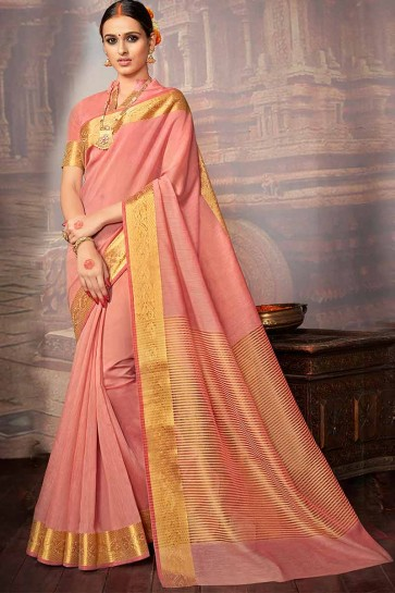 Light Pink Khadi Silk Saree