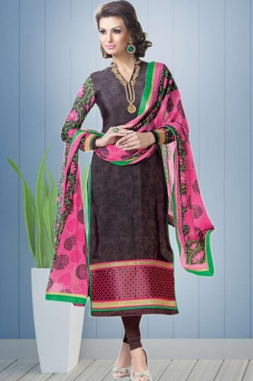 Wine color Crepe Salwar Kameez