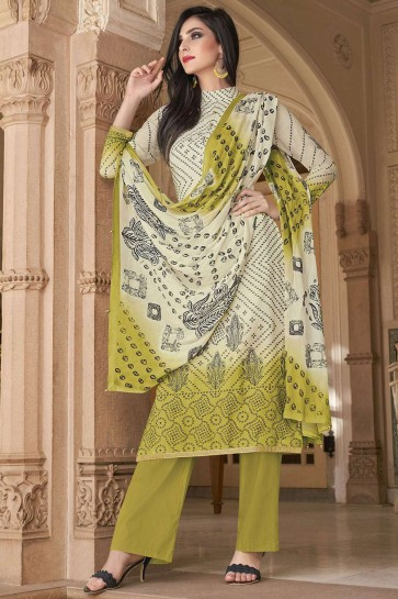 Off white Cotton Palazzo Suits