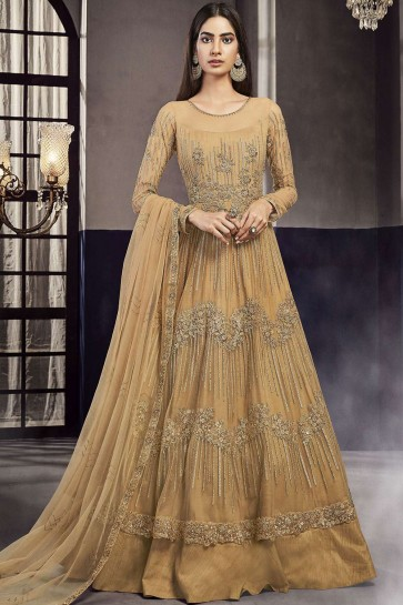 Occur yellow Net and art silk Anarkali Suit