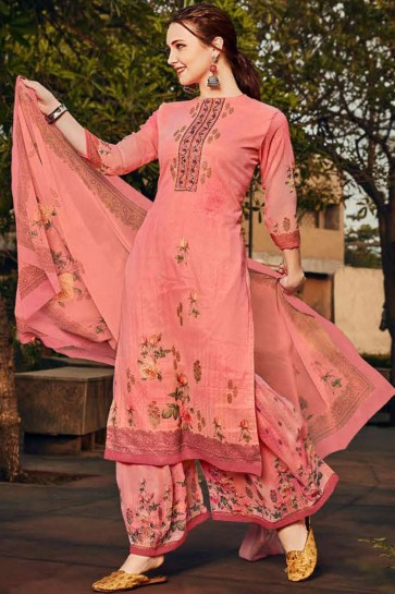 Pink Georgette Sharara Suit