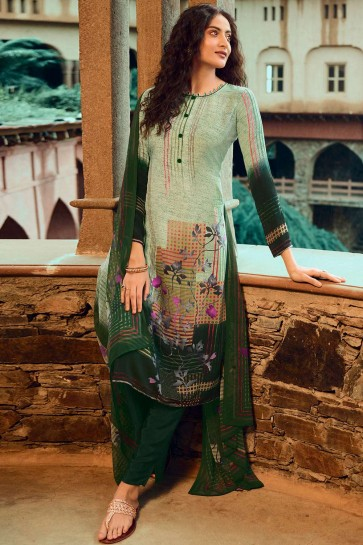 Light green Crepe Palazzo Suit