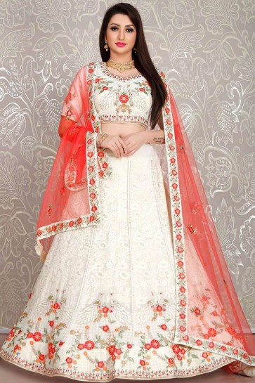 White Georgette Lehenga Choli